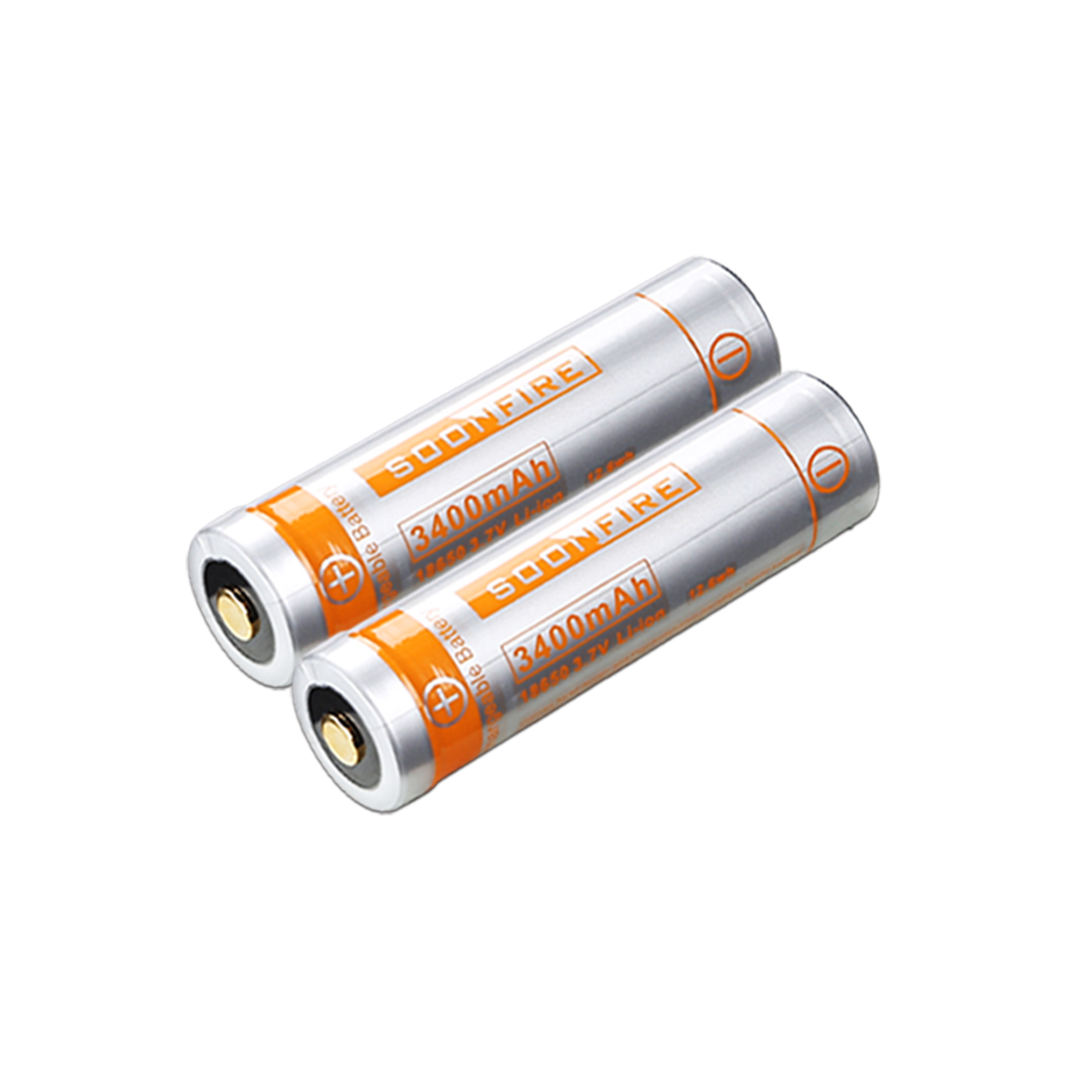 Soonfire 18650 Li-ion Recharger Batteries(two)