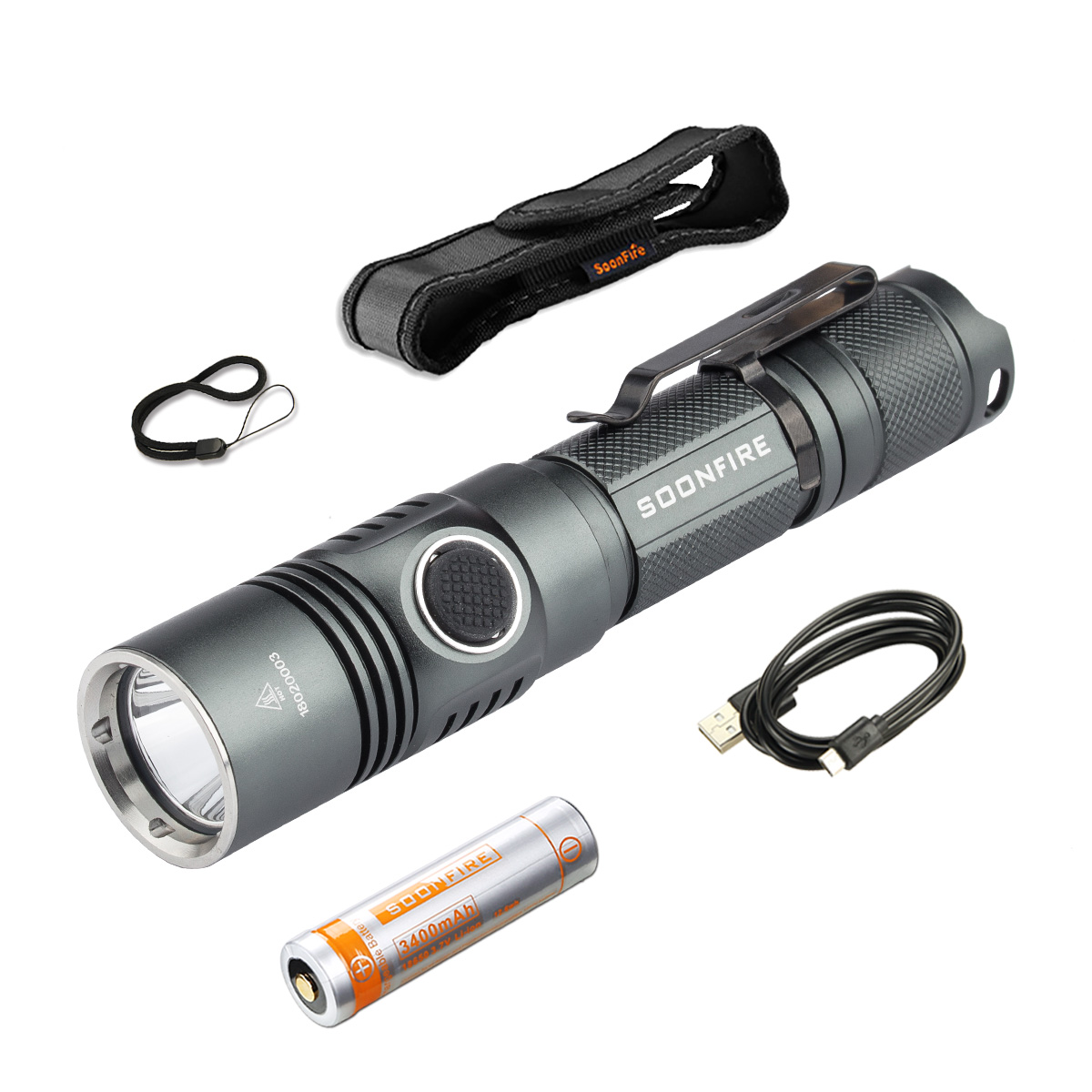 Soonfire DS31 Tactical Flashlight