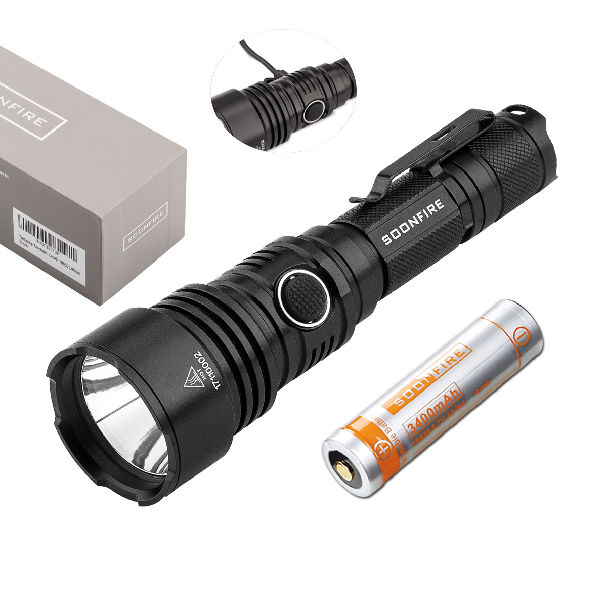 Soonfire VS50 Tactical Flashlight